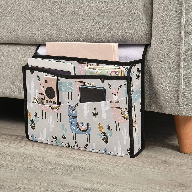 Emelivor Memphis Mall Llama Bedside Caddy Storage Pockets Fashionable 6 Organizer