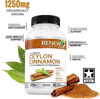 Organic Ceylon Cinnamon Supplement Capsules: All Natural Vegan Cinnamon Pills - Anti-Inflammatory Antioxidant Support for Healthy Blood Sugar, Joints, Circulation and Digestion - 60 Veggie Capsules