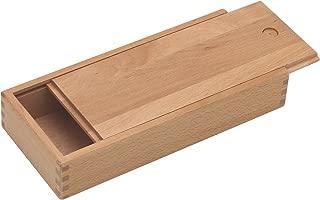 Paintersisters lápices Caja con Tapa Deslizante–Caja de Madera, Caja de Madera de Madera Fein Haya barnizada