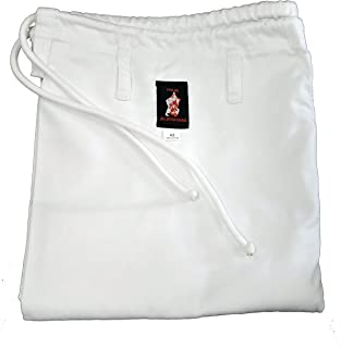 white gi pants
