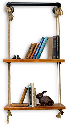 NACH 2 Shelves Industrial Shelf with Rope and Tube Piping