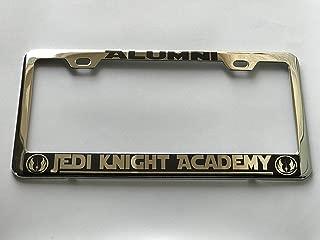 KuraSpeed Star Wars Phrase Alumni - Jedi Knight Academy w/ 2 Logo Stainless Steel Chrome License Frame Plate