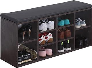 comprar comparacion RICOO WM033-BG-A, Banco Zapatero, 104x49x30cm, Armario Interior con Asiento, Organizador Zapatos, Mueble recibidor, Perche...