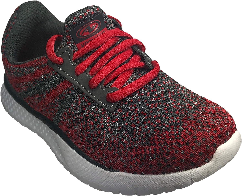 Athletics Works Boys Lightweight Knit Low Profile Walking Running Shoe