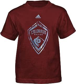 MLS by Outerstuff Boys' War Paint Logo Short Sleeve Tee, Burgundy, Kids Medium(5-6)