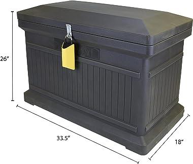 RTS Companies Inc 550200520A7981 Parcelwirx Horizontal Smart Lock Premium Delivery Box, Graphite