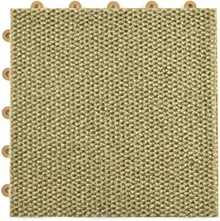 Greatmats Raised Carpet Tile Snap Together 12-1/8 x 12-1/8 x 9/16 Inch Flooring for Basement, Office, Entry Ways, Trade Shows, Portable Tiles, Event Flooring, 20 Pack (Tan)
