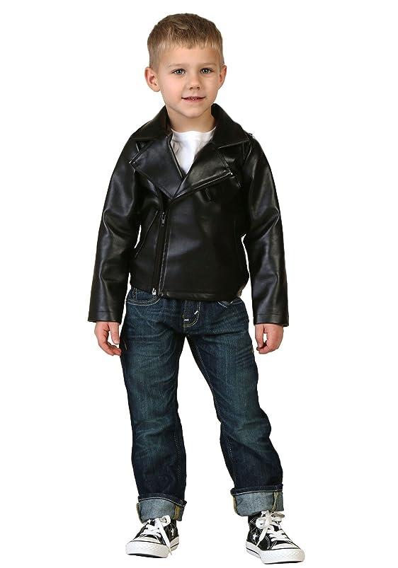 Toddler Boys Grease T-Birds Black Movie Jacket Costume ruwurzhg439186