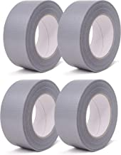 gws Geweven tape   sterk klevende Duct Tape in versch. kleuren   Lengte: 50 m (4 rollen - zilver - 50 mm breed)