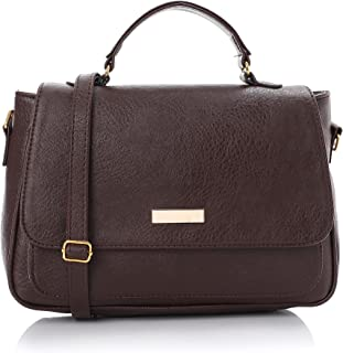 حقيبة جلد نسائية كروس أنيقة - بنى