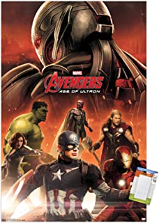 """Trends International Marvel Cinematic Universe Age of Ultron-Avengers Wall Poster, 22.375"""" x 34"""", Premium Poster & Mount B..."""