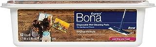 Bona Hardwood Floor Disposable Wet Cleaning Pads, 12 Count