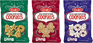 Stauffer's Holiday Cookies - Holiday Shortbread, Iced Gingerbread, White Fudge - Variety Set 12 oz. Bags (1 of each)