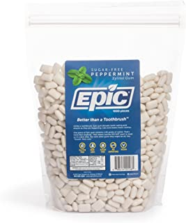 Epic 100% Xylitol-Sweetened Chewing Gum (Peppermint, 1000-Count Bulk Bag)