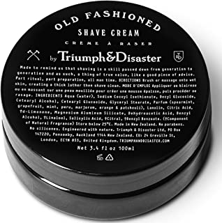 Triumph & Disaster Old Fashioned Shave Cream - 3.4 fl oz Jar (Gives 100+ Shaves) – with Organic Compounds Coconut Oil Extracts & Active Agents to Deliver a Smooth Close & Comfortable Wet Shave