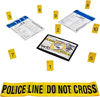 Kobe1 Police Line Do Not Cross Barrier Tape (20Feet),Tamper Proof Evidence Collection Bags (x2),Photo Evidence Markers Fra...