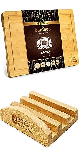 new arrival Medium sale Bamboo Cutting Board with Juice Groove and Cutting Board new arrival Stand online sale