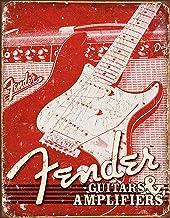 Desperate Enterprises Weathered Guitars & Amplifiers Tin Sign, 12.5
