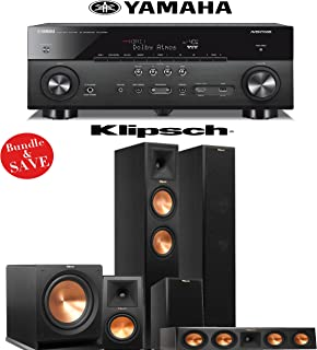 Klipsch RP-260F 5.1 Reference Premiere Home Theater System with Yamaha RX-A760BL 7.2-Ch Network A/V Receiver