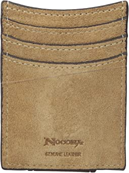 Embossed Tab with Cross Money Clip Wallet