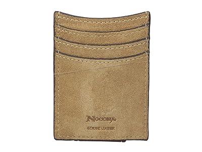 M&F Western Embossed Tab with Cross Money Clip Wallet (Medium Brown) Wallet Handbags