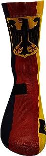 Bandera de Alemania Calcetines con Diseño Motivo Hecho a Mano Calcetines de impresión 3D para Baloncesto Voleibol Tenis Fitness Golf Ciclismo Balonmano Respirable Coolmax Calcetines deportivos