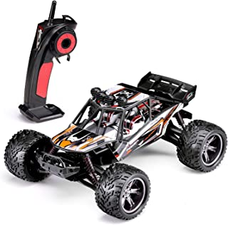 FMT RC Truck 9120, 1/12 Scale Radio Controlled Electric Car - 38km/h Offroad 2.4Ghz 2WD Remote Control Truggy Truck Gift for All Ages Out Door Play R/C