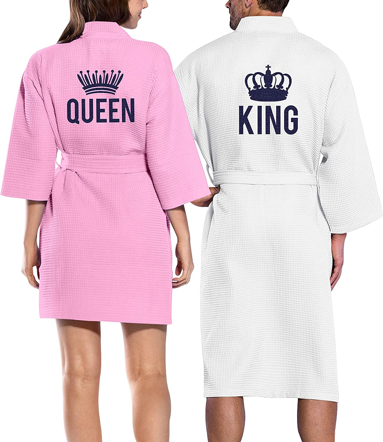 Cotton Waffle Robe Queen King His Spa Honeymoon Hers Couple Hote Jacksonville Mall Baltimore Mall