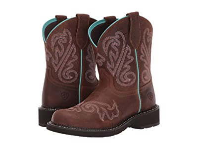 Ariat Fatbaby Heritage (Heavenly Brushed Brown) Cowboy Boots