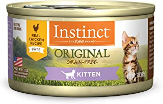 Instinct Original Kitten Grain Free Real Chicken Recipe Natural Wet Canned Cat Food by Nature's Variety, 3 oz. Cans (Case ...