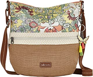 Sakroots Artist Circle Soft Bucket Bag Sunlight-Floral-Straw