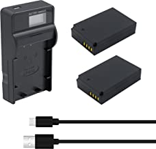 Bonacell LP-E12 Battery and LCD Charger Kit Compatible with Canon EOS M50, EOS M100, Rebel SL1, EOS100D, EOS M, EOS M2, EOS M10 Mirrorless Digital Camera 2-Pack