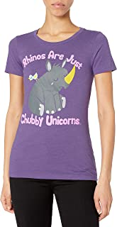 Goodie Two Sleeves Juniors Rhinos are Just Chubby Unicorns Graphic Tee
