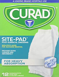 Curad Sitepad Surgical Dressings 5 Inches X 9 Inches 12 Each (Pack of 3)
