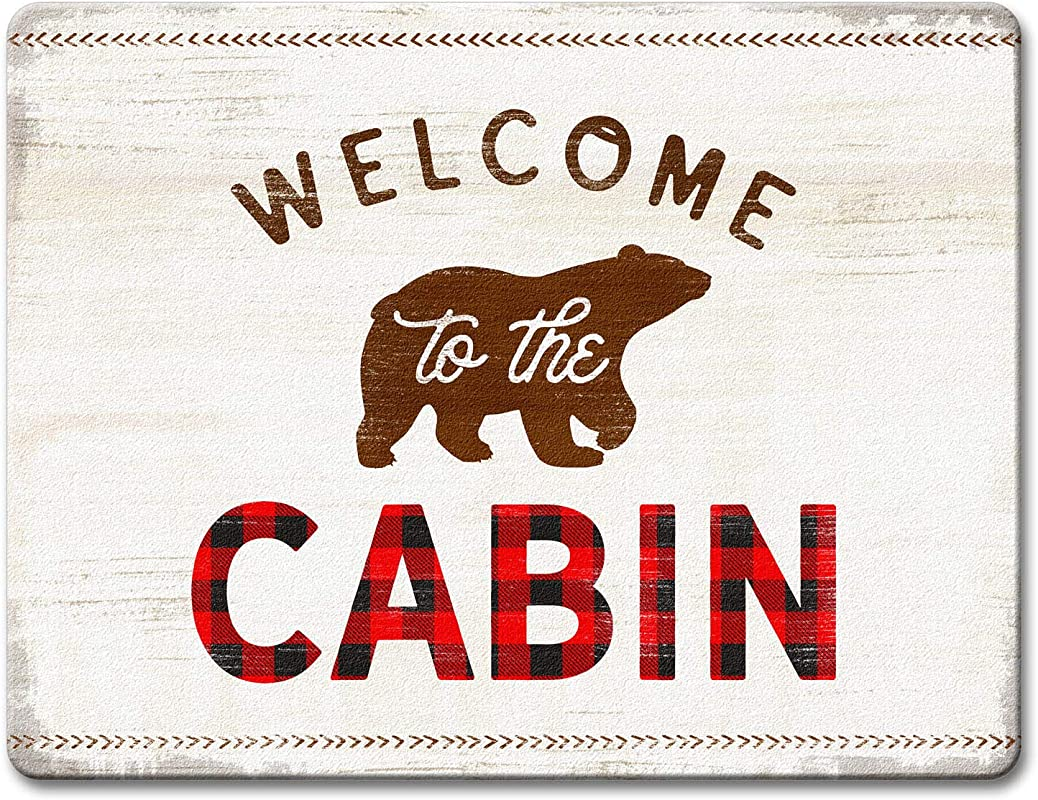 Counterart Glass Counter Saver 15 X 12 Inch Welcome To The Cabin