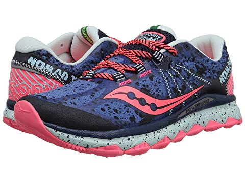 Saucony Nomad TR Blue/Navy/Coral B - Medium Women's Running Shoes 8530927