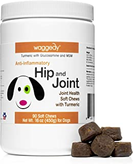 Waggedy Dog Supplements for Joints and Hips, Contains Glucosamine for Dogs, All Natural Remedies for Dogs Helps Alleviate Aches and Discomfort and Helps to Increase Dog Mobility and Endurance