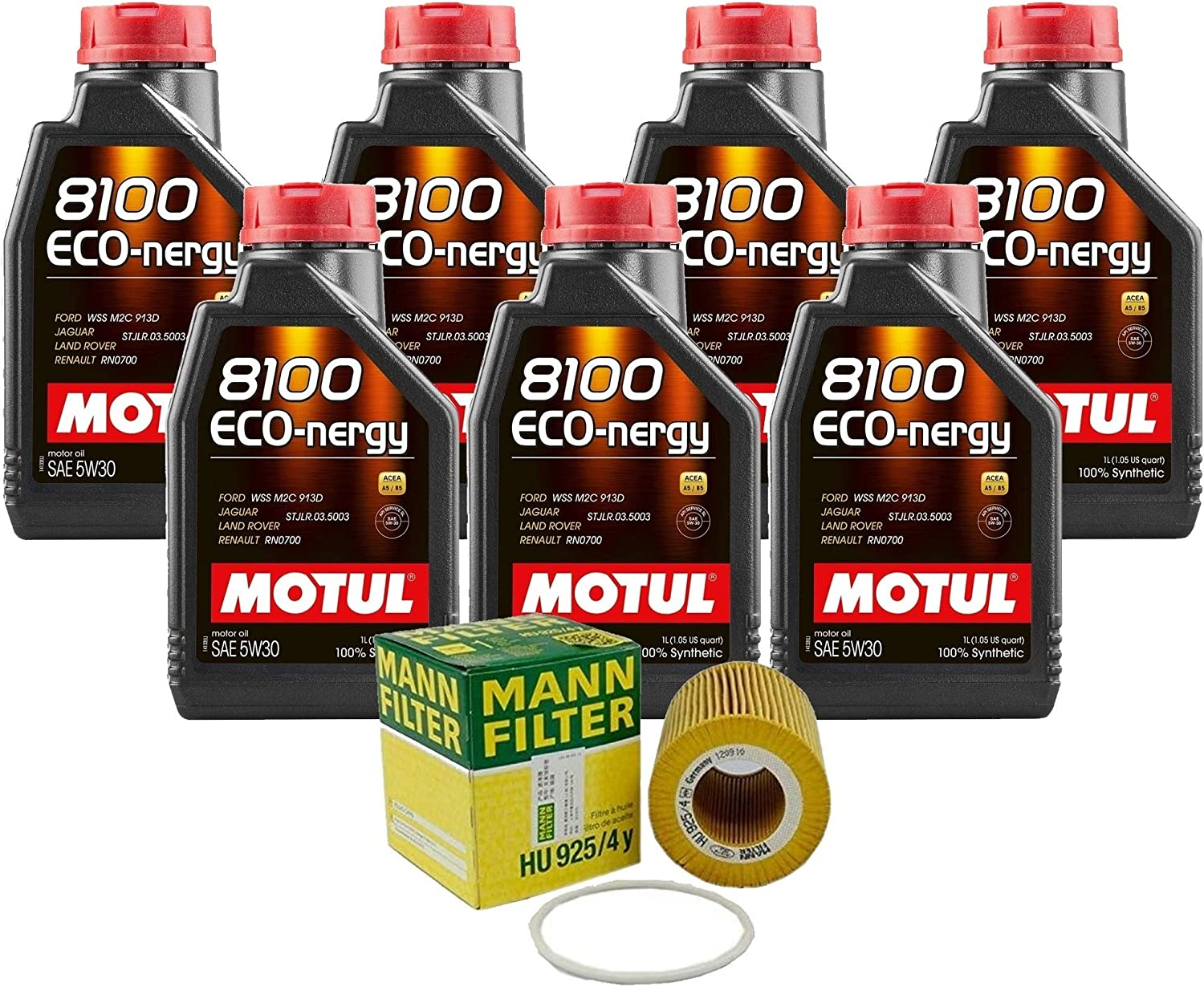 7L 8100 Same day shipping ECO-NERGY 5W30 Filter Motor Natu XC60 3.2 Don't miss the campaign Change Oil Kit