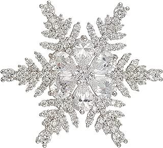Christmas Crystal Snowflake Brooch PIN Made with Swarovski Elements