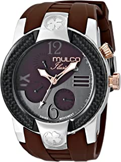 MULCO Unisex MW5-1877-113 ILUSION Crescent Analog Display Swiss Quartz Multifunctional Watch