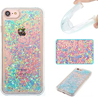 DAMONDY iPhone 7 Case,iPhone 7 Glitter Case,3D Cute Bling Liquid Glitter Floating Quicksand Diamond Water Flowing Ultra Clear Soft TPU Case for Apple iPhone 7 4.7 ONLY -Sliver Blue Star