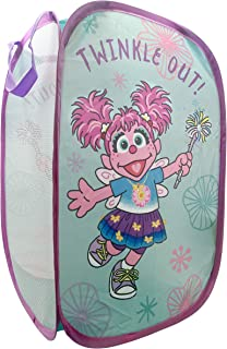 "Jay Franco Sesame Street Abby Cadabby Pop Up Hamper - Mesh Laundry Basket/Bag with Durable Handles, 22"" x 14"" (Official Sesame Street Product)"