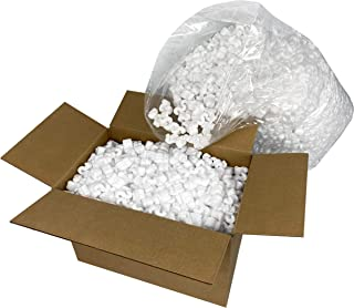 1 Bag White Regular Loose Fill Shipping Packing Peanuts S-Shaped 22.5 Gal Bag