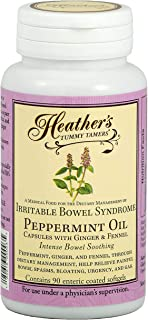 Heather's Tummy Tamers Peppermint Oil Capsules for IBS, 90 Count Bottle