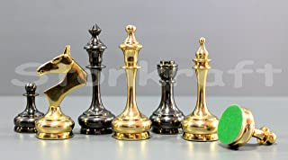 "StonKraft Brass Chess Pieces Chessmen Chess Coins Pawns (3.75"" Unique)"