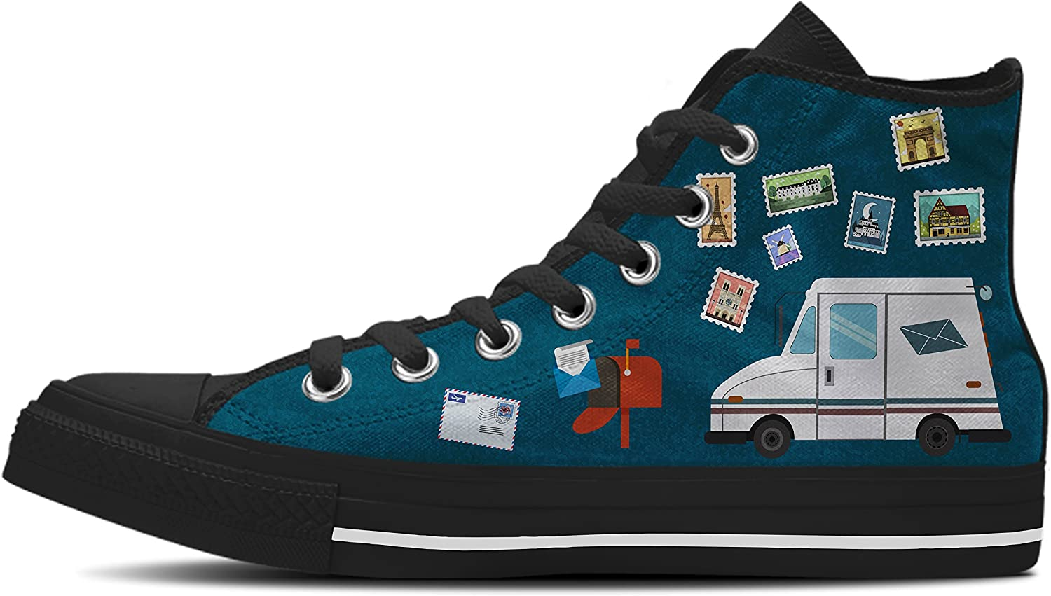 Gnarly Tees Men's Postal Worker shoes High Top