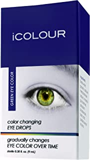 iCOLOUR Color Changing Eye Drops - Change Your Eye Color Naturally - 1 Month Supply - 9 mL (Green)