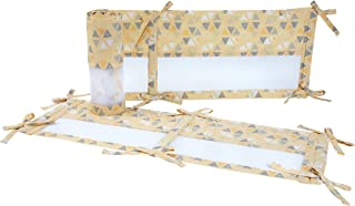 Little Love by NoJo Giraffe Time Crib Liner, Yellow