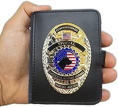 Xpress ID Emotional Support Dog Badge & Leather Wallet   Includes Registration to National Dog Registry