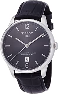 Tissot Men's T0994071644700 Chemin Des Tourelles Powermatic 81 Analog Display Swiss Automatic Black Watch